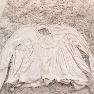 Free People Off White Lace LongSleeve